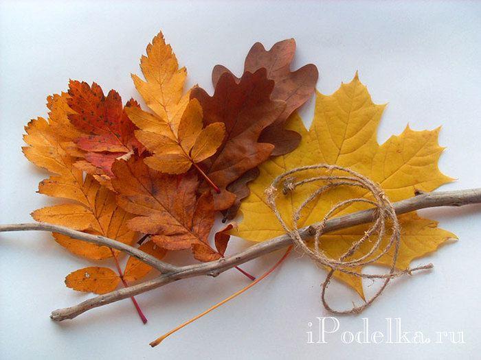 Декор для дома из осенних листьев