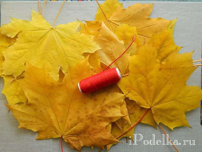 Осенняя роза из кленовых листьев своими руками