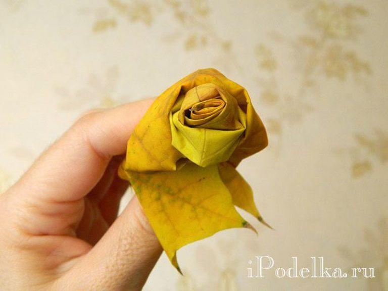 Цветы из дубовых листьев своими руками 73