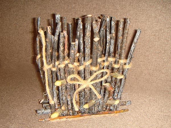 Из деревянных палочек 5