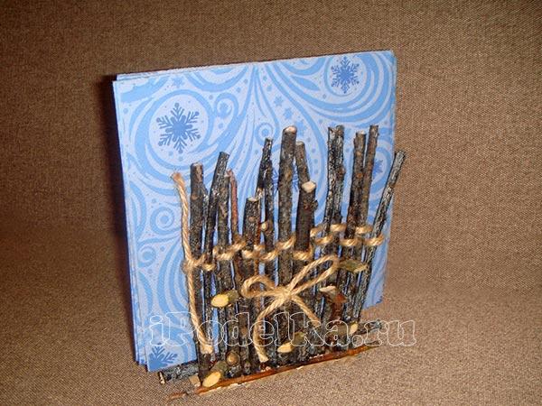 Из деревянных палочек 9