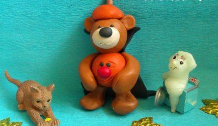 Необычная поделка к Хэллоуину — медвежонок-тыковка