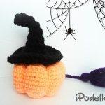 Тыква крючком в ведьминской шляпке