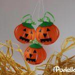 Тыква из бумаги — гирлянда на Хэллоуин