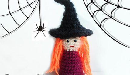 Поделка на Хэллоуин — ведьма крючком