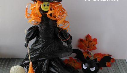 Поделка на хэллоуин — ведьма