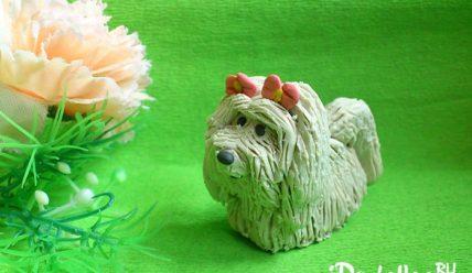 Как слепить собачку болонку из пластилина