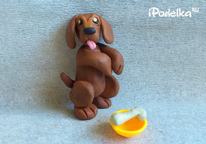 Как слепить щенка из пластилина