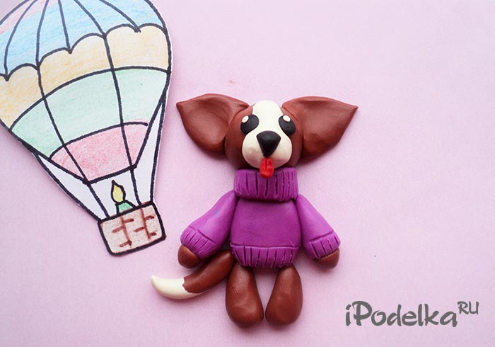 Детская поделка — собака из пластилина