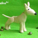 Как слепить собаку бультерьер из пластилина