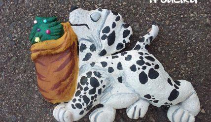 Как сделать собаку далматинца из соленого теста
