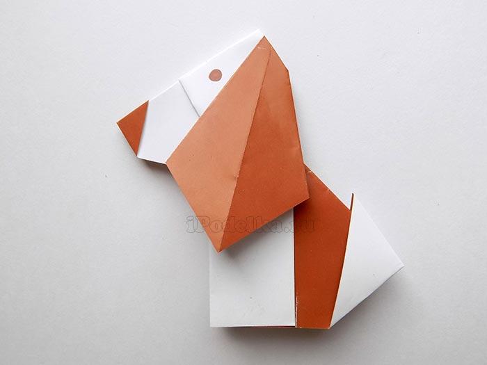 Оригами из бумаги собака схема 407