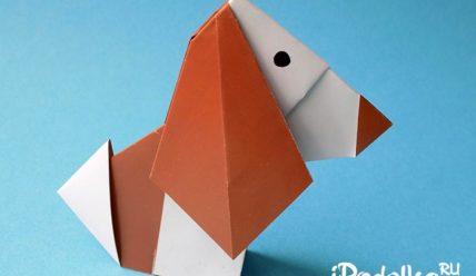 Собака оригами — 10 вариантов