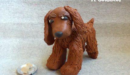 Как слепить собачку спаниэль из пластилина