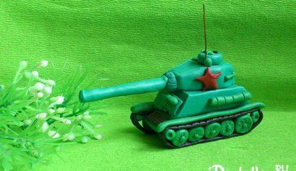 Как слепить танк Т-34 из пластилина своими руками