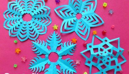 Снежинки из бумаги своими руками — 5 вариантов с фото