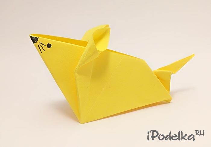 Крыса оригами из бумаги своими руками