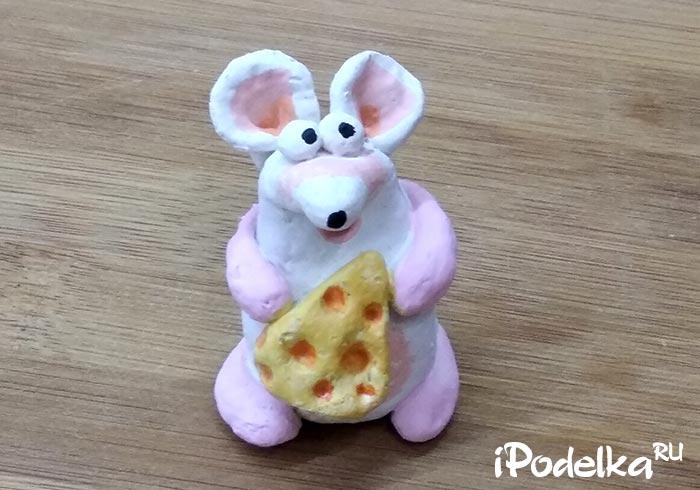 Крыса с сырком своими руками