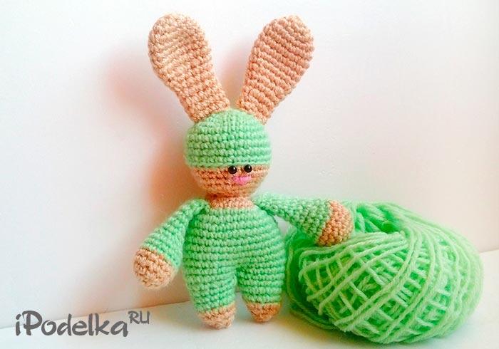 Как связать игрушку зайчик в технике амигуруми