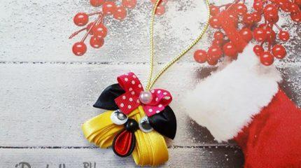 Как сделать елочную игрушку собачку из лент