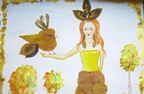 Осенняя поделка «Златовласка Осень»