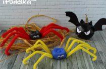 Как сделать паука из яичных лотков