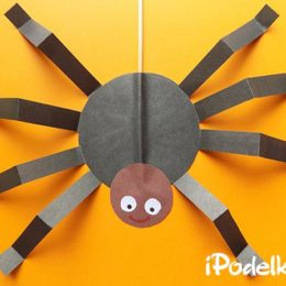 Как сделать паука на палочке из бумаги
